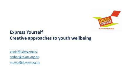 Express Yourself Creative approaches to youth wellbeing