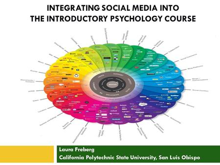 INTEGRATING SOCIAL MEDIA INTO THE INTRODUCTORY PSYCHOLOGY COURSE Laura Freberg California Polytechnic State University, San Luis Obispo.
