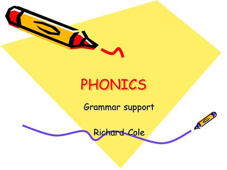 Grammar support Richard Cole