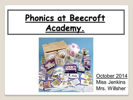 Phonics at Beecroft Academy.