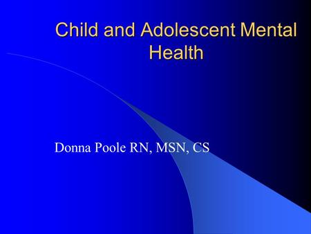 an analysis of the disorders that are usually first evident in infancy childhood or adolescence First, proposed changes to dsm-5 pertinent to trauma and expressions of psychopathology in preschoolers among disorders usually first diagnosed in infancy, childhood, or adolescence second, discussions pertinent to trauma and expressions of psychopathology in school-aged children and adolescents ( sheeringa, zeanah, & cohen, in press sheeringa.
