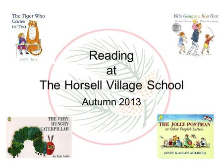 Reading at The Horsell Village School Autumn 2013.