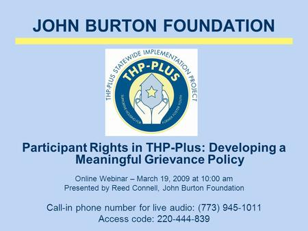 JOHN BURTON FOUNDATION