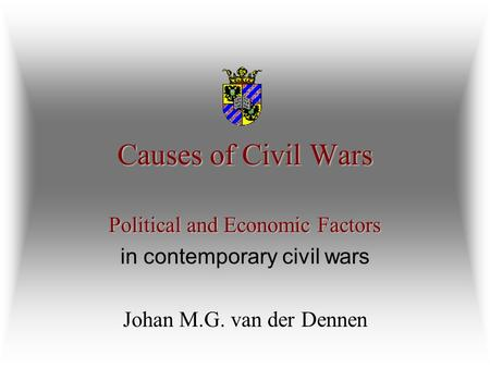 political and economic cause of the