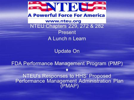 FDA Performance Management Program (PMP)