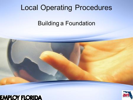 Local Operating Procedures Building a Foundation.