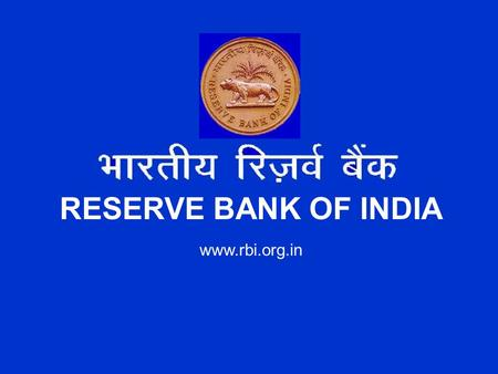 Www.rbi.org.in RESERVE BANK OF INDIA. Developments in Payment and Settlement Systems Introduction of MICR Introduction of MICR Electronic Funds Transfer.