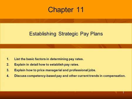 establishing strategic pay plan Our own company now uses a point method to evaluate jobs for pay purposes establishing strategic pay plans assuming they continue using the point plan.