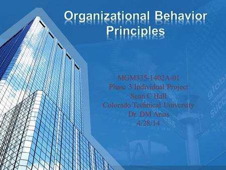 Organizational Behavior Principles