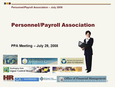 Personnel/Payroll Association – July 2008 1 Personnel/Payroll Association PPA Meeting – July 29, 2008.