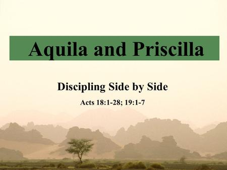 Discipling Side by Side