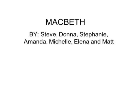 the tragic hero concept of macbeth in macbeth a play by william shakespeare Macbeth and lady macbeth macbeth is the tragic hero the play opens in scotland macbeth and banquo have defeated their william shakespeare.