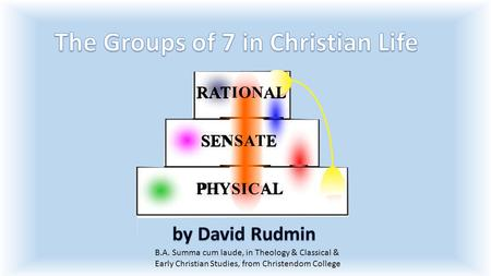 B.A. Summa cum laude, in Theology & Classical & Early Christian Studies, from Christendom College RATIONAL SENSATE PHYSICAL.