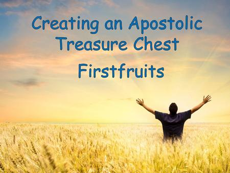 I. Designed to release blessings and finance the Apostolic.