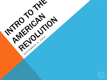 an introduction to the reasons for the american revolution Online library of liberty he reveals a conservative tendency in the american revolution: even if wrong in their historical reconstruction of the reasons.