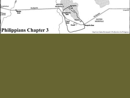 Philippians Chapter 3 Map from Markus Bockmuehl's The Epistle to the Philippians.