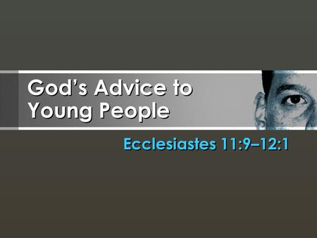 God's Advice to Young People