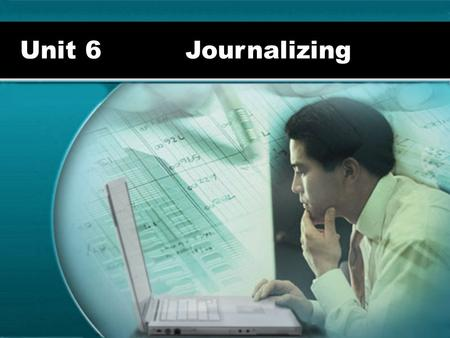 Unit 6 Journalizing. The Accounting Cycle Analyze Transactions and Source Documents Journalize Entries in the General Journal Post the General Journal.