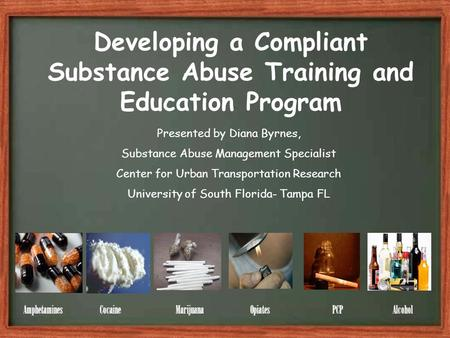 Developing a Compliant Substance Abuse Training and Education Program ...