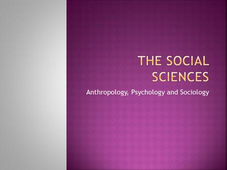 overview of social psychology sociology Analysing the social world: an introduction to social psychology an undergraduate course offered by the school of sociology socy1004 academic year 2018.