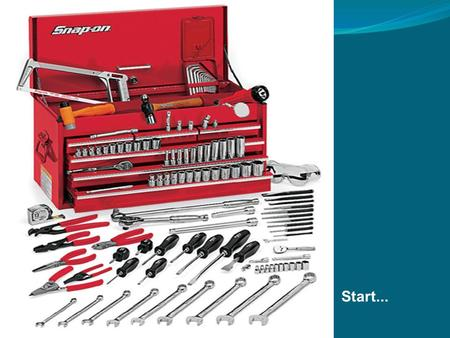 Start.... 1.0 Basic Handtools By Category Screwdriver types Pliers variations Wrenches classified Hammers.
