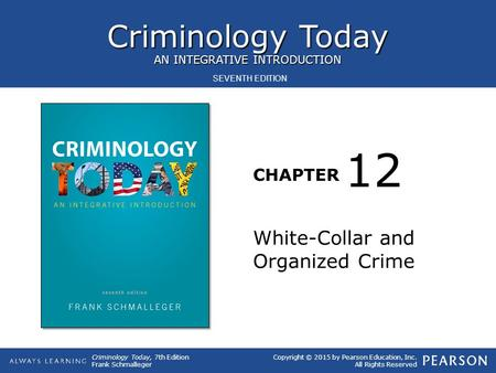 12 White-Collar and Organized Crime.