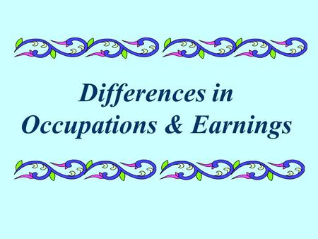 Differences in Occupations & Earnings. How do occupations differ by race/ethnicity and gender? Let's first look at men.