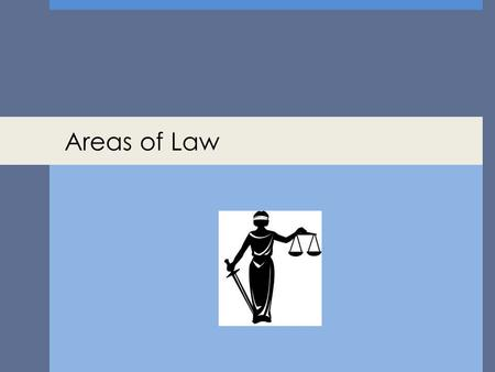 Areas of Law.