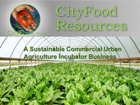 A Sustainable Commercial Urban Agriculture Incubator Business A Sustainable Commercial Urban Agriculture Incubator Business.