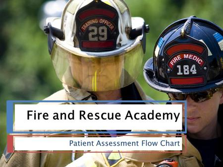 Fire and Rescue Academy Patient Assessment Flow Chart.