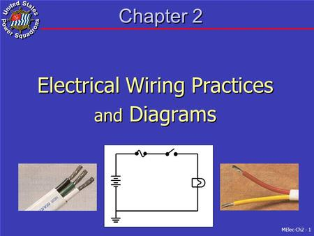 MElec-Ch2 - 1 Chapter 2 Electrical Wiring Practices and Diagrams Electrical Wiring Practices and Diagrams.