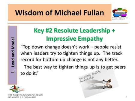Wisdom of Michael Fullan