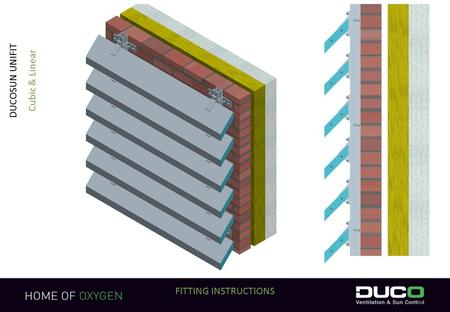 1 FITTING INSTRUCTIONS DUCOSUN UNIFIT Cubic & Linear.