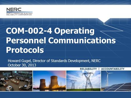 COM Operating Personnel Communications Protocols
