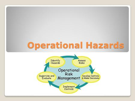 Operational Hazards. Overview Common safety hazards Safe work practices Preventing and treating heat and cold stress Proper lifting and handling Confined.