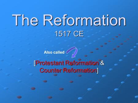 an introduction to the protestant reformation and the counter reformation in europe The reformation, a very short introduction  the spirit of the counter reformation  made himself the most famous man in europe—and started the protestant.