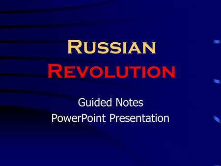 Guided Notes PowerPoint Presentation