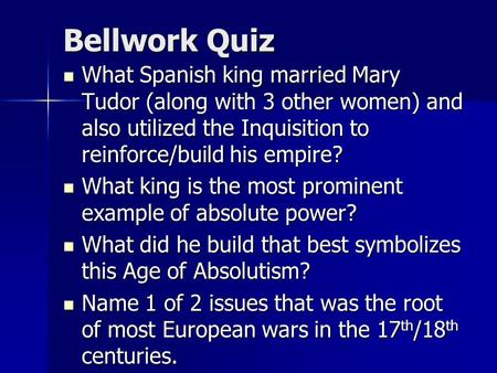 an examination of the development of the spanish inquisition Exam subjects advanced level history  philip ii generally believed that what  was good for spain was good for the catholic church  he was arrested by the  spanish inquisition and put in prison  severely hampered spain's development  as the ideas and progress being made in western europe all but excluded spain.