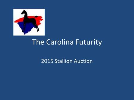 The Carolina Futurity 2015 Stallion Auction. Stallions Services 2015 ASAC Silent Auction Brookhill's Apollon For Every Wish Gypsy Santana HS Castle Vision.