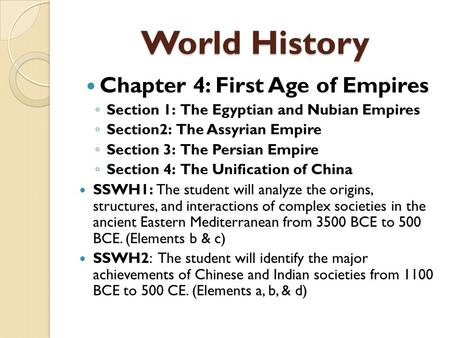 world history notes for ch 13