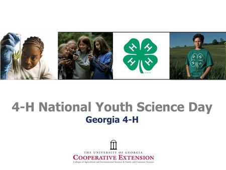 4-H National Youth Science Day Georgia 4-H. Is Climate Change Real????
