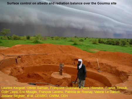 Surface control on albedo and radiation balance over the Gourma site Laurent Kergoat, Olivier Samain, Françoise Guichard, Pierre Hiernaux, Franck Timouk,