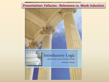 Presentation: Fallacies - Relevance vs. Weak Induction.