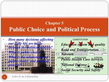 How many decisions affecting our daily life are made through the political process? What is public choice? What is the relationship of public choice and.