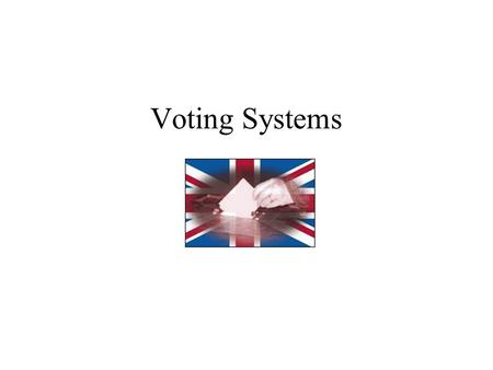 Voting Systems Before setting out on a journey it's a good idea to have some idea of where youre heading … 2010 – The Single Transferable Vote electoral.