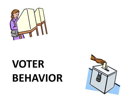 VOTER BEHAVIOR. idiotes—those that did not vote or otherwise take part in public life millions of Americans don't vote!