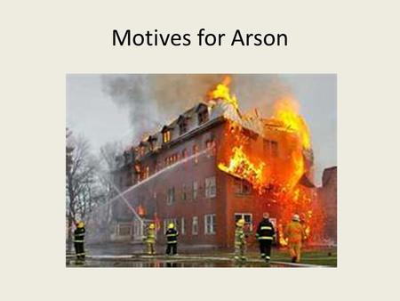Motive for crime
