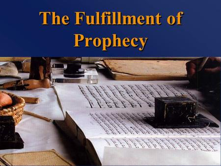 "The Fulfillment of Prophecy. ""That it might be fulfilled"" Matthew 1:22-23 Matthew 2:13-15 Matthew 12:14-21 Matthew 21:1-5."