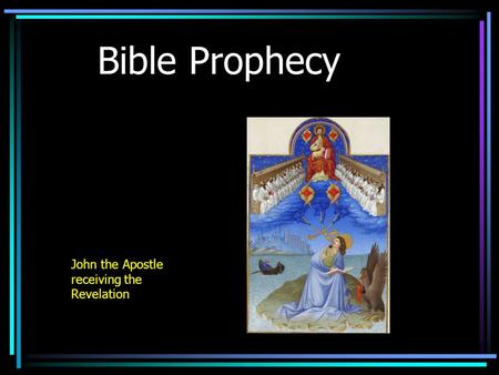 Bible Prophecy John the Apostle receiving the Revelation.