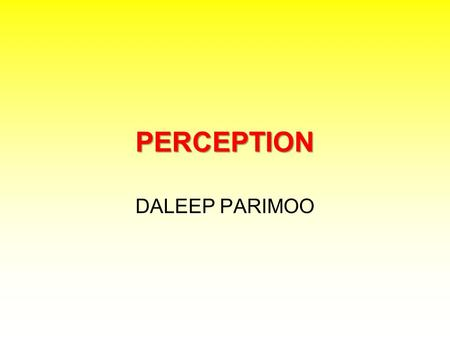 PERCEPTION DALEEP PARIMOO.